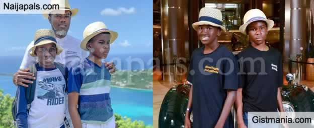 Reno Omokri Share Rare Photos Of His Twin Sons While On Vacation In Egypt