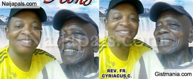 Burial Poster Of Catholic Priest, Rev. Fr. Cyriacus Who Was Murdered In Imo State, Set To Be Buried With His Father