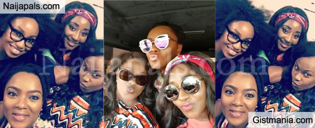 Movie Stars, Uche Jombo, Rita Dominic, Ini Edo and Chioma Akpotha Mark Magical Reunion With Cute Selfies (Photos)