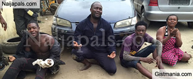 Police Arrest 4 Suspected Robbers In Port-Harcourt With 5 AK-47 & 2 Toyota Camry Vehicles