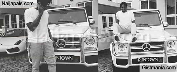 Singer Runtown Gifts Himself A Brand New Custoized G-Wagon To Celebrate Birthday (Photos)