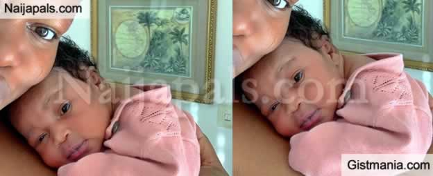 Nollywood Star, Ruth Kadiri Ezerika Unveils Her Baby's Face In New Photo