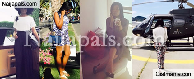 Brymo's Ghanaian Ex-Girlfriend, Sandra Amkobiah Lives Lavish Life Of Bentley, Helicopter & Yacht Cruising In Italy