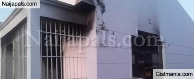 Video: SDP Secretariat Set On Fire By Armed Hoodlums In Kogi