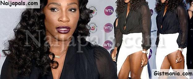 Serena Williams Looks Hot On Revealing Thigh-Split White Skirt @ Pre-Wimbledon Party