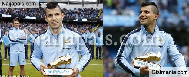 SPORTS: Sergio Aguero Wins Barclays Golden Boot Award