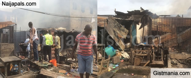 Shops Burnt & Property Looted As 'Thugs' Clash In Mushin, Lagos - Photos