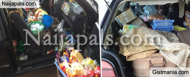 New Trend In Abuja As Shops Are Run From Inside A Car (PHOTO)