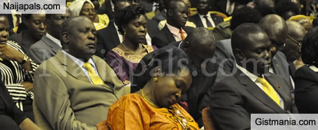 See Ugandan Parliament Where They Do Sleeping And Chewing Competition (Video)