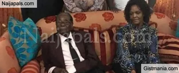 First Photos Of Sobber Looking Robert Mugabe And Wife After His Resignation Surfaces Online