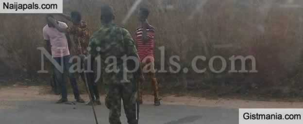 Drama As Soldiers Stop Bus And Force Young Men With Afro To Shave Their Hair