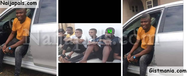 Nigerian Man 'Solo Pounds' Arrested By Police Officers In Ghana (Photos)