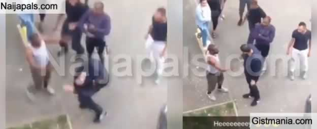 PHOTOS+VIDEO: White Man Gets Hot Slap After Accusing Nigerian Guy Of Theft In South Africa