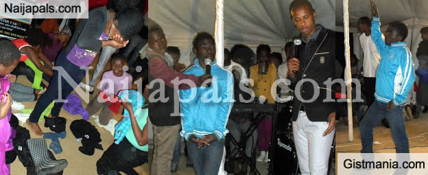 South African Pastor Penuel Commands Gay Spirit Into Member, Orders Female To Undress [Photos]
