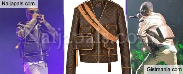 A Closer Look At Wizkid's N2.3m Louis Vuitton Jacket For His O2 Arena Show in London (Photos)
