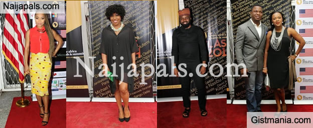Celebs Step Out For Future Africa Awards Nominees Reception