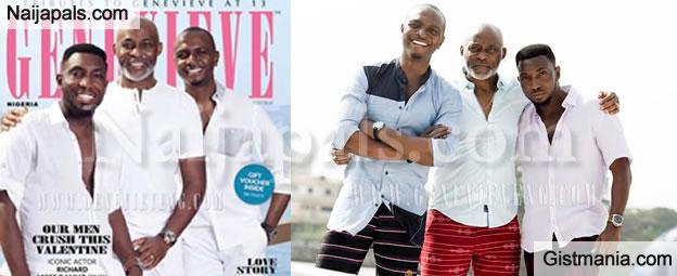 Photos: RMD, Timi Dakolo & IK Osakioduwa cover February 2016 issue of Genevieve Magazine