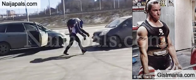 Wow! See What This Strong Woman Did To A Man Who Annoyed Her While Driving (PHOTOS)