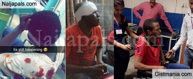 Nigerian Students Attacked By A Group Of Locals In India - Photos