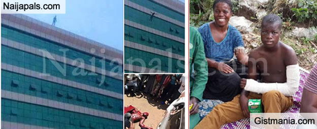 Teenage Boy Who Jumped Off A 6-Storey Building Convicted Of Attempted Suicide - Photos
