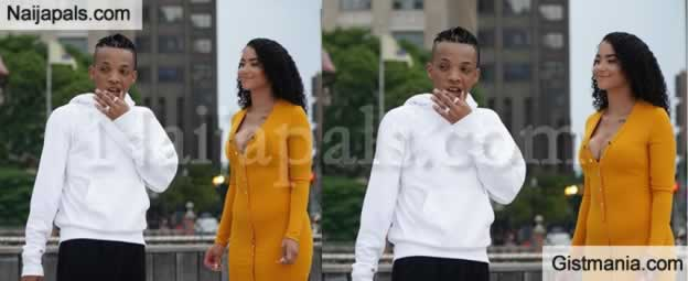 Singer, Tekno Spotted In America With A Beautiful Woman In A Romantic Mood