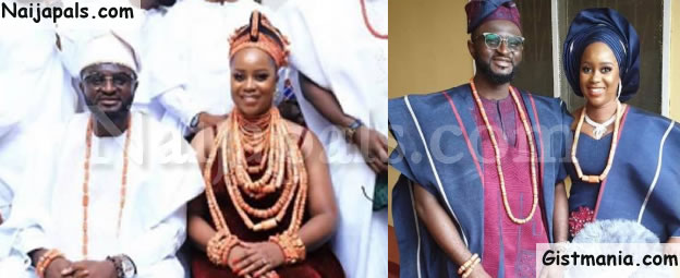 First Photos From Ace Producer, Tee-Y Mix & Ivie Ogbonmwan's Traditional Wedding Ceremony