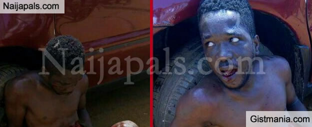 Liberian Thief Stripped Unclad, Beaten To Pulp & His Bladder Ripped Off By Mob - Graphic Photos