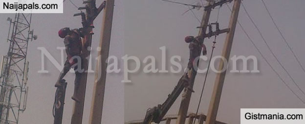 Photos: Thief Electrocuted On PHCN Poll In Kaduna State