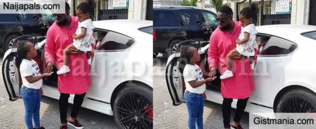 Rare Photos Of Timaya's Daughters, Emmanuella and Grace