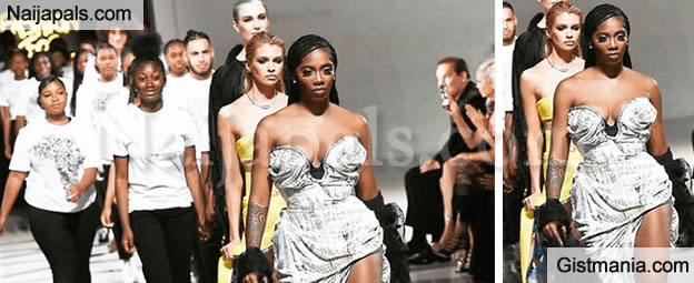 Tiwa Savage Makes Her Runway Debut At Naomi Campbell's 'Fashion For Relief' Show (Video)