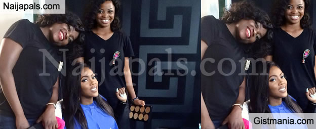 Tiwa Savage Living The Life! Spotted With New Best Friend Funke Akindele On Set (Photo)