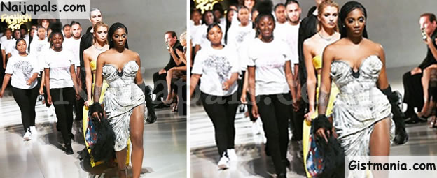 Nigerian Diva, Tiwa Savage Walks The Runway For Naomi Campbell's 'Fashion For Relief' (Video)