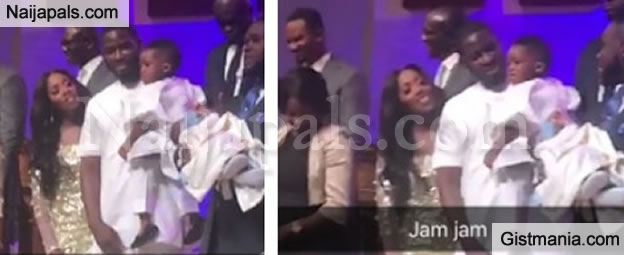 Re-United: Teebillz and Tiwa Savage Spotted In Church With Their Son, Jamil