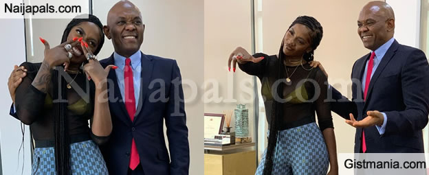 Tiwa Savage Hangs Out With Billionaire & UBA CEO, Tony Elumelu In His Office (Video)