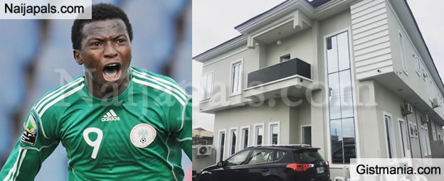 Checkout The Extravagant Mansion Acquired By Super Eagles Striker, Olanrewaju Kayode (Photo)