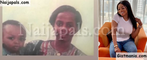 Throwback Photo Of Toke Makinwa And Her Mother That Got People Talking
