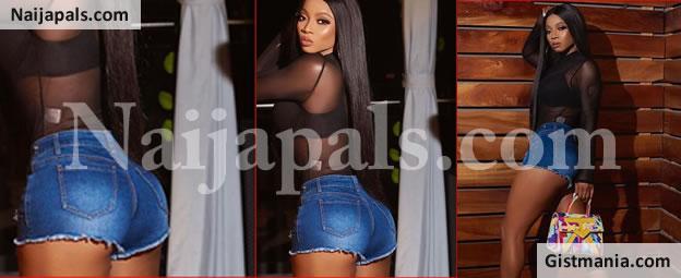 Actress & Media Personality, Toke Makinwa Rocks Bum Shorts In New Hot Photos