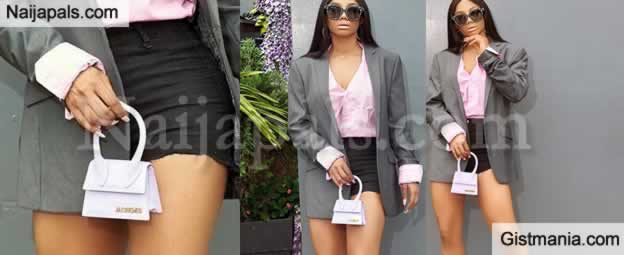 Toke Makinwa Calls Herself The Queen Of The Streets In Very Short Mini Skirt