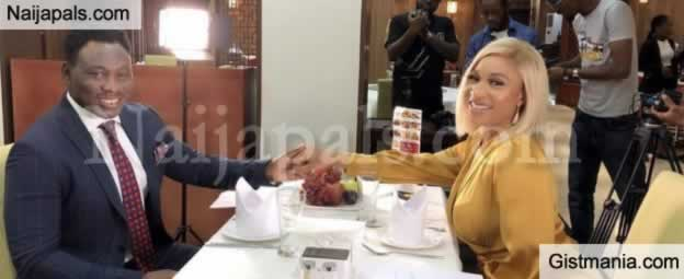 """Dinner With @danielomokachi - Tonto Dikeh Had Dinner With Ex-Super Eagle Player Daniel Amokachi"