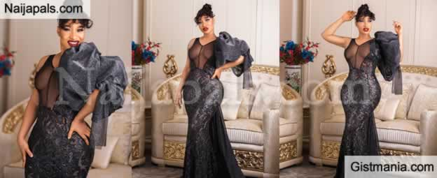 Tonto Dikeh Sets The Internet On Fire With See-through Black Gown