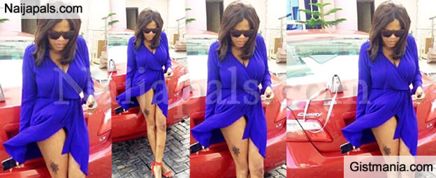 Sultry Actress, Toyin Aimakhu Shows Off Her Thigh Tattoo & Hot Legs - Photo