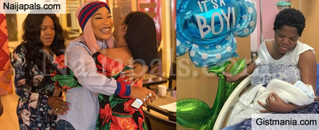 BEEFING? Tonto Dikeh & Her Best Friend Bobrisky Ignore Actress Toyin Abraham's New Baby