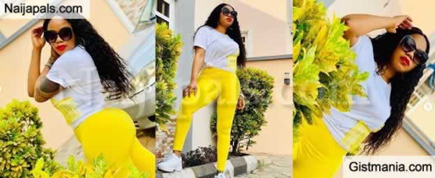 Toyin Lawani Goes Nude To Promote A Beauty Soap She Is Selling - Video