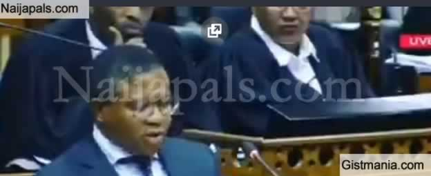 Hilarious Video Of The Transport Minister Of SA Been Corrected For Mispronouncing Prof. Soyinka Name