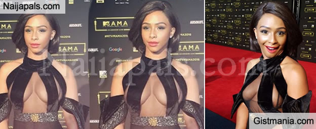 Shameful or Cute? The Tacky Dress Boity Wore To MTV MAMA 2016 - Photos