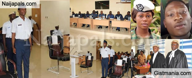 See Photos From The Trial Of An Airforce Personnel, Kalu Bernard Who Brutally Murdered His Lover
