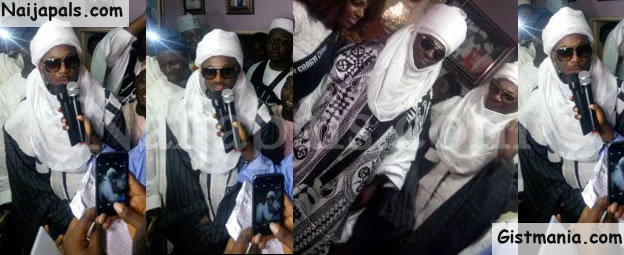 Photos Of 2face Idibia Dressed In Chief Regalia In Kaduna State [Photos]