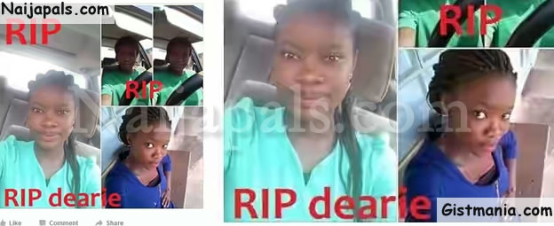 Girl Mysterious Dies While Heading To The Toilet (Photos)