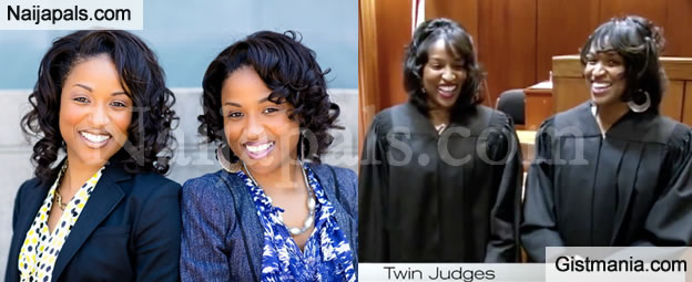History Is Made In USA As Black Female Judge Swears In Her Twin Sister As A Judge (Photos)