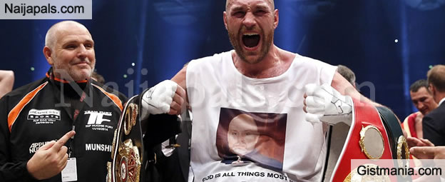 Tyson fury Beats Wladimir Klitschko To Become The World's Heavyweight Champion - Pix